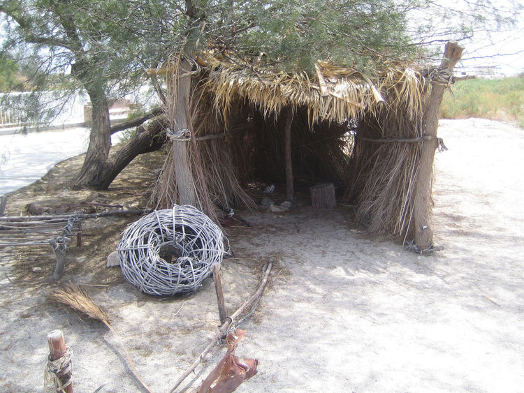 Beyond the visitor center, my favorite structure at this particular stretch of beach was this one. It's a replica of the kind of dwelling that the native Cahuilla Indians would have lived in.
