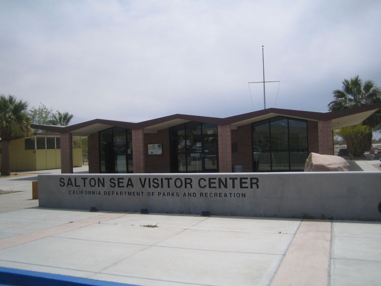 It wasn't the Albert Frey-designed North Shore Yacht Club, but I did like the Salton Sea Visitor Center. The small, mid-century building feels like a great little example of sun-baked California modernism with it's winged roofline and low, glassy facade.