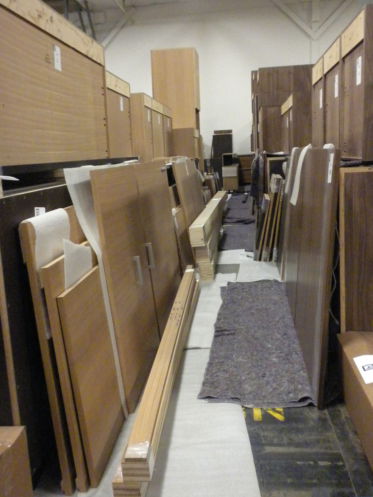 "After three more steps, the cabinets end up in their final ""cell,"" where they are assembled and packaged for shipping and installation."