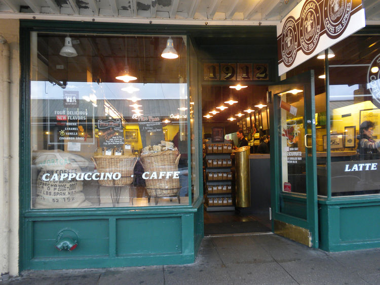 "My walk back to my hotel continued through <a href=""http://www.pikeplacemarket.org/"">Pike Place Market</a> and, of course, included a cup of coffee at the <a href=""http://www.starbucks.com/about-us/our-heritage"">original Starbucks</a>. The exterior and in"