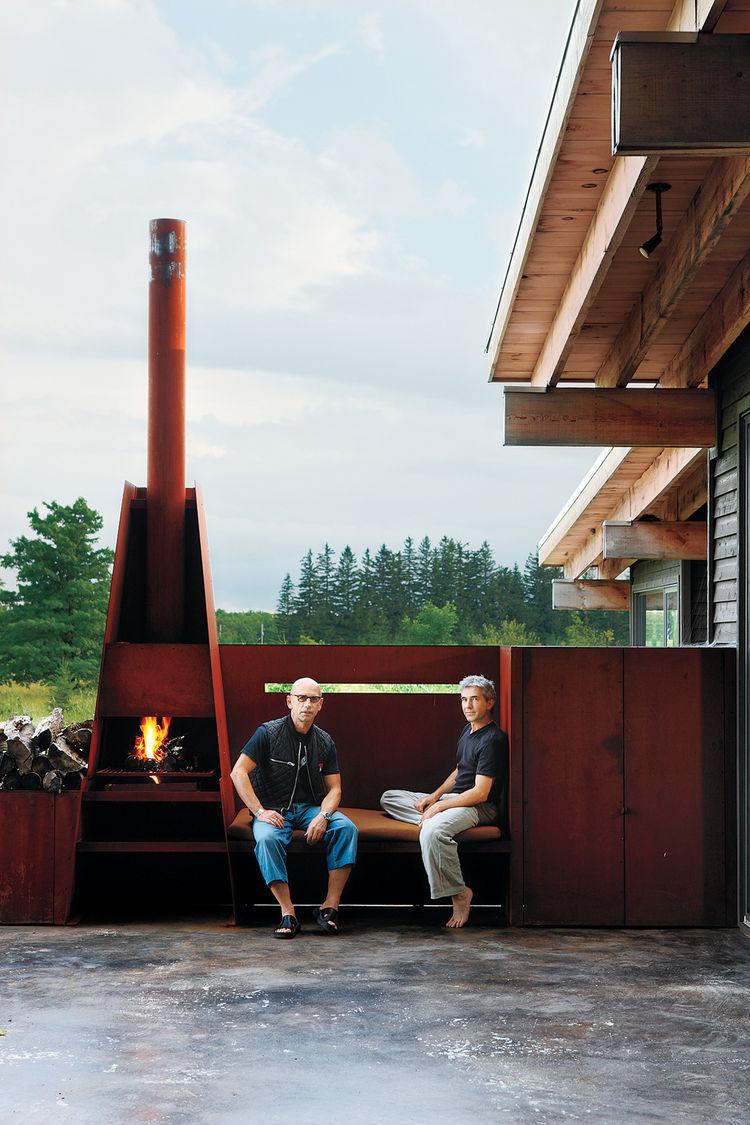scrap metal, fireplace, Canada