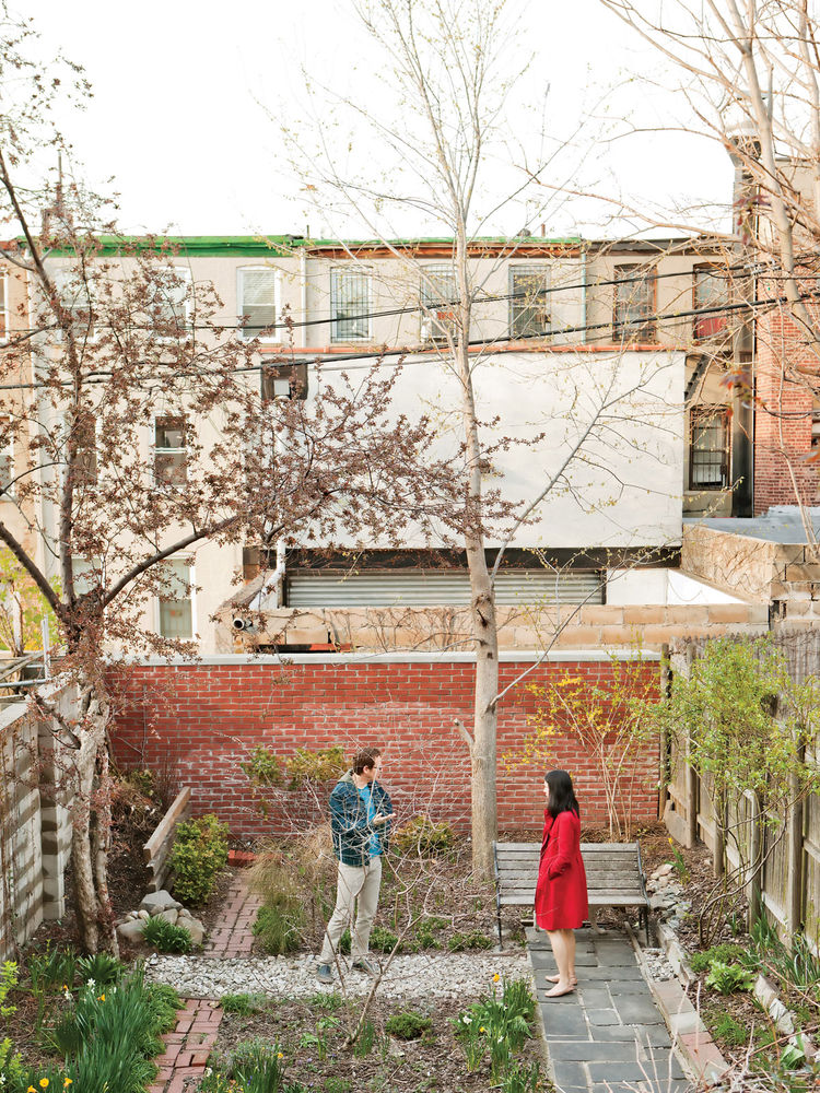 "In Brooklyn, Jeff Sherman used rubble bricks and concrete dug up from the backyard and crushed to create his <a href=""http://www.dwell.com/slideshows/new-prospects.html"">green garden</a>. Catch the story in our <a href=""http://www.dwell.com/magazine/Japan"