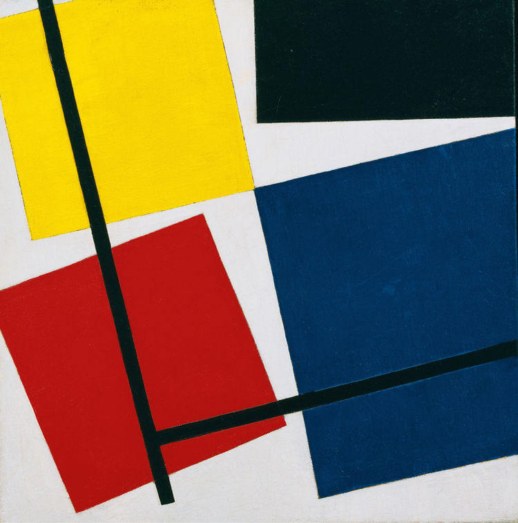 <i>Simultaneous Counter-Composition</i> (1929-30) by Theo van Doesburg. On display at the Tate Modern in London through May 16, 2010, as part of the <i>Van Doesburg and the International Avant-Garde: Constructing a New World</i> exhibit. On loan from the
