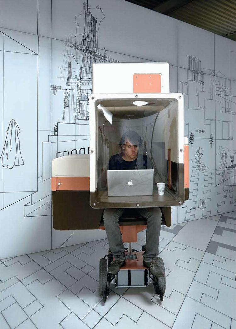 """Slow Car (prototype car/office) by <a href=""""http://www.studiomakkinkbey.nl/"""">Studio Makkink & Bey</a>."""