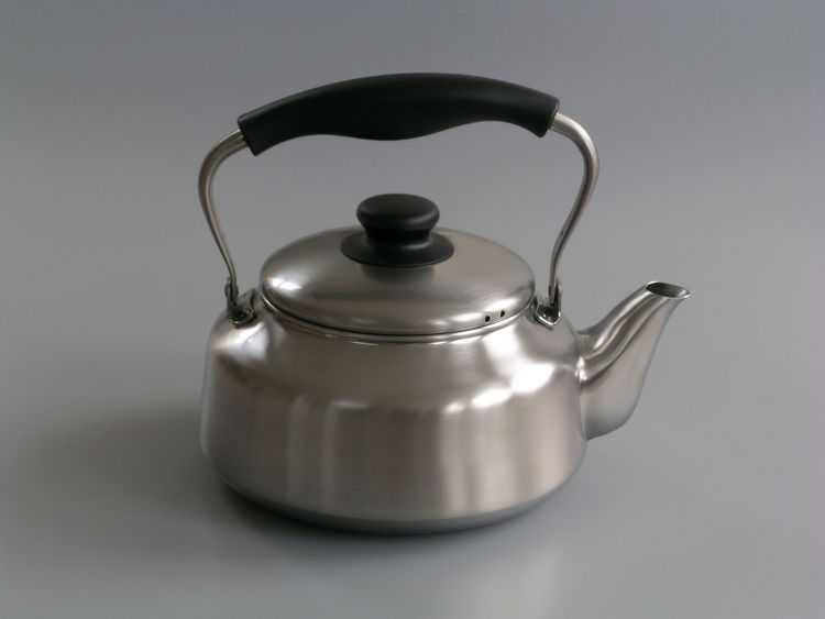 """<b>Sori Yanagi Kettle</b> """"We fell in love with this kettle when visiting Japan. Designed in the 1990's, this kettle has an incredible understated elegance and a timeless look."""" Photo courtesy of Labour and Wait."""