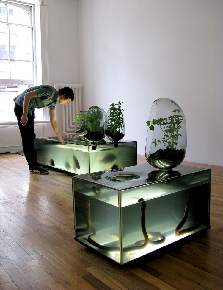 "Of the more strange displays is the <i>Local River</i> designed by Mathieu Lehanneur in collaboration with Antony van den Bossche. Though <i>Urban Africa</i> and <i>Sustainable Futures</i> close on Sunday, <i><a href=""http://designmuseum.org/exhibitions/2"