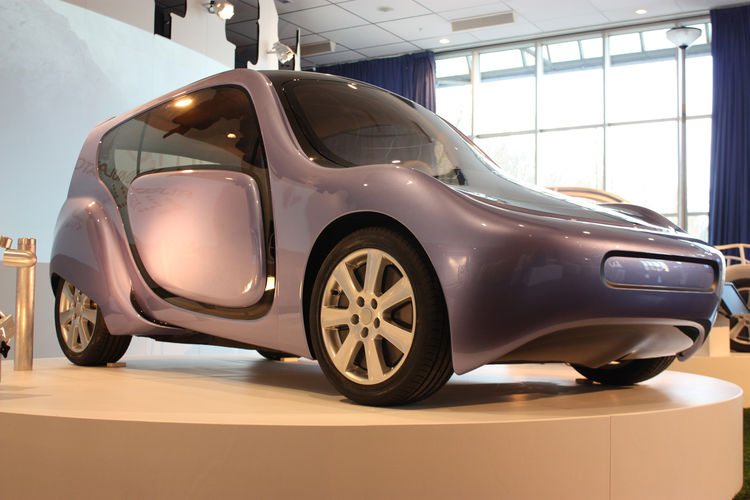 Shown here on display at the museum is the <i>C, mm, n</i> open source hydrogen car designed by the Delft, Eindhoven, and Twente Universities of Technology and commissioned by the Netherlands Society for Nature and the Environment.