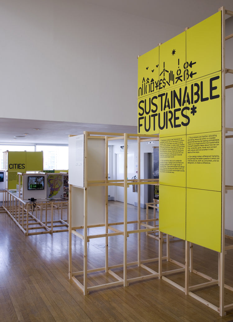 In <i>Sustainable Futures</i>, the other exhibition closing this week at the Design Museum, ideas for eco-friendly solutions in the realms of cities, energy and economics, food, materiality, and creative citizens are on display as prototypes, products, fi