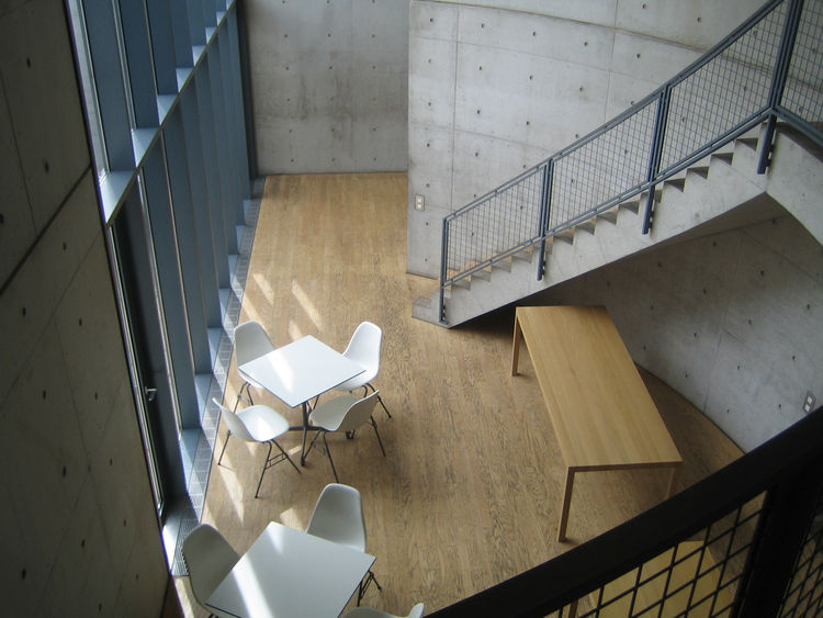 "Tadao Ando's first building outside Japan is this conference center called the ""House of Silence."" It was perhaps my favorite building of the lot for its serene interiors."
