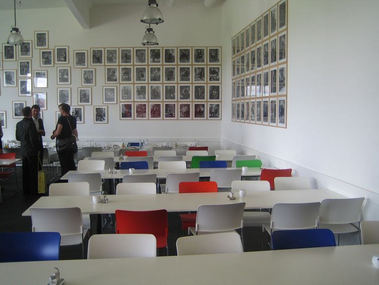 Lunch was very tasty at the cafeteria. I loved the mismatched chairs and wall of photos of celebs (like Miles Davis, Spike Lee and Ben Kingsley) in Vitra chairs.