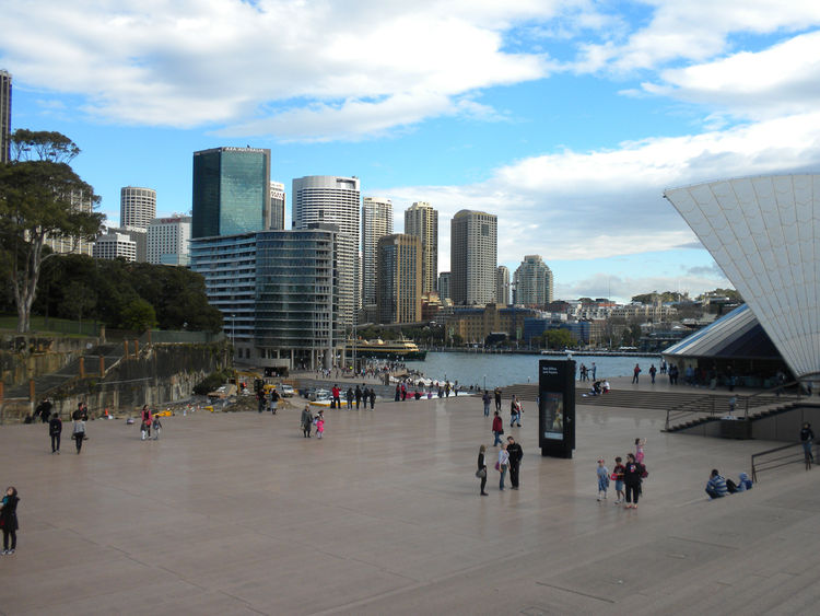 The Opera House was finally completed in 1973 at the cost of $102 million (which today would be nearly half a billion dollars), despite the fact that the original budget was $7 million. Each time we walked by the structure during our trip, it was full of