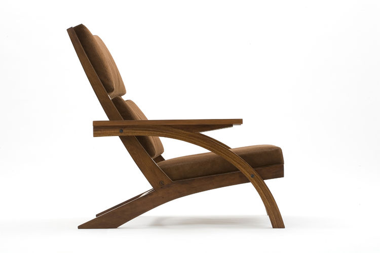 """Named after a surf spot on the São Paulo coast, Taguaíba was designed in 2008 of peroba wood. Motta says that he strives to """"stay far away from the ephemeral and what is en vogue,"""" in his designs, which he hopes """"fulfill their utilitarian function and are"""