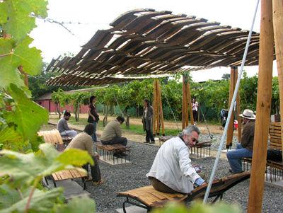 grupo talca wine barrel breezeway