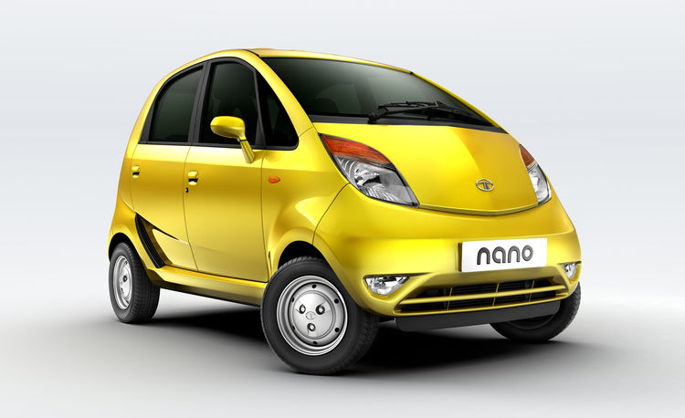 Tato Nano, developed by Tata Motors. On display February 18 through April 25, 2010, at the Cooper-Hewitt, National Design Museum, as part of the <i>Quicktake</i> exhibit. Photo courtesy Tata Motors.