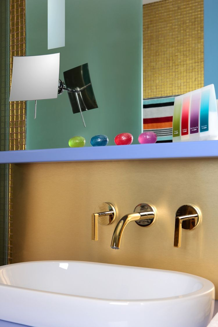 """The bathroom amenities are by Missoni Home (of course). They created custom-blended scents, supposedly evocative of warm sand and sea breezes.  Photo by <a href=""""http://www.gerryoleary.com/"""">Gerry O'Leary</a>."""