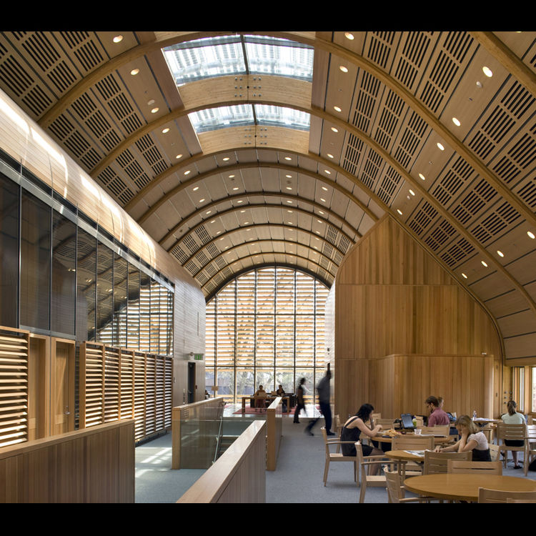"<b>Project:</b> Kroon Hall, Yale University<p></p><b>Location:</b> New Haven, Connecticut<p></p><b>View:</b> Interior<p></p><b>Architect:</b> <a href=""http://www.hopkins.co.uk/"">Hopkins Architects</a> and <a href=""http://www.centerbrook.com/"">Centerbrook"