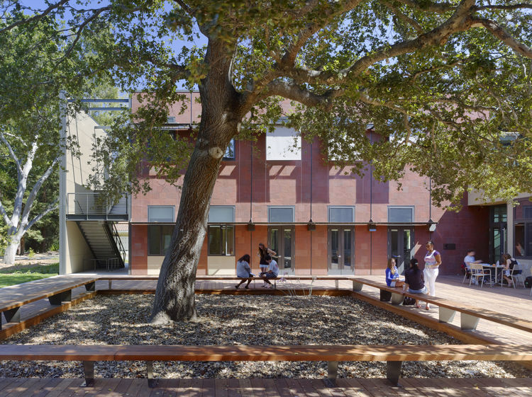 "<b>Project:</b> Michael J. Homer Science & Student Life Center<p></p><b>Location:</b> Atherton, California<p></p><b>View:</b> Courtyard<p></p><b>Architect:</b> <a href=""http://www.lmsarch.com/indexf.html"">Leddy Maytum Stacy Architects</a><p></p><p></p><b>"