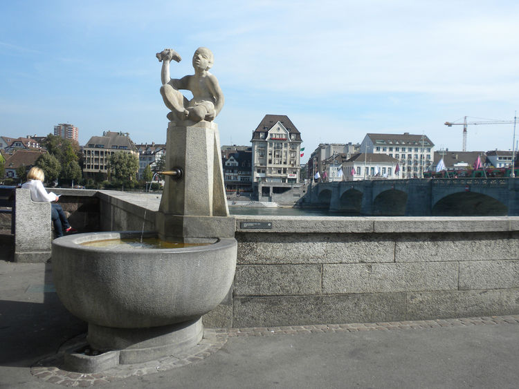 It's nearly impossible to walk more than five minutes in Basel without stumbling upon a water fountain. Each is unique and carefully sculpted, and all of the fountains offer clean drinking water, a happy respite for tired tourists. Some are even designed