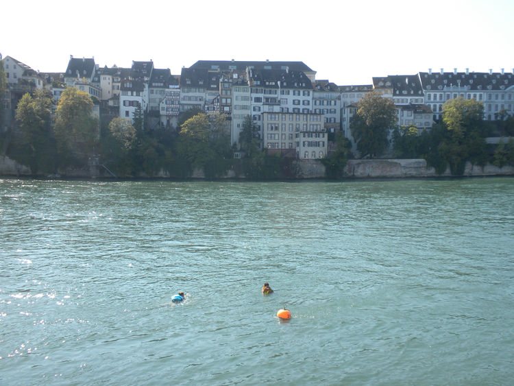 Basel's best form of play, in my opinion, is swimming down the Rhine. This is a popular summer activity for strong swimmers and fortunately during my visit it was unseasonably warm so many locals were still frolicking in the water. The Rhine has a good cu