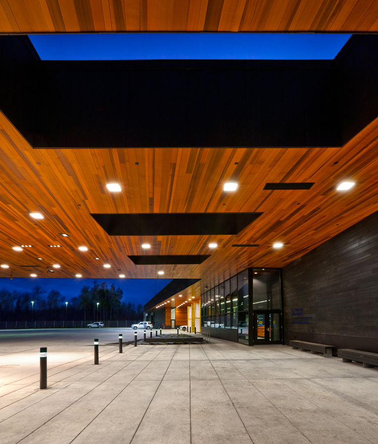 "The U.S. Land Port of Entry in Warroad, Minnesota. Designed by Julie Snow Architects, Inc. Winner of the 2011 Institute Honor Award for Architecture. Project description: ""U.S. Land Port of Entry supports the mission-driven demands of Customs and Border P"