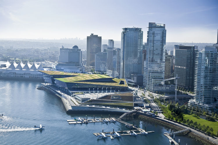 "The Vancouver Convention Centre West in Vancouver, British Columbia. Designed by LMN Architects, with DA/MCM. Winner of the 2011 Institute Honor Award for Interior Architecture. Project description: ""As the world's first LEED Platinum convention center, t"