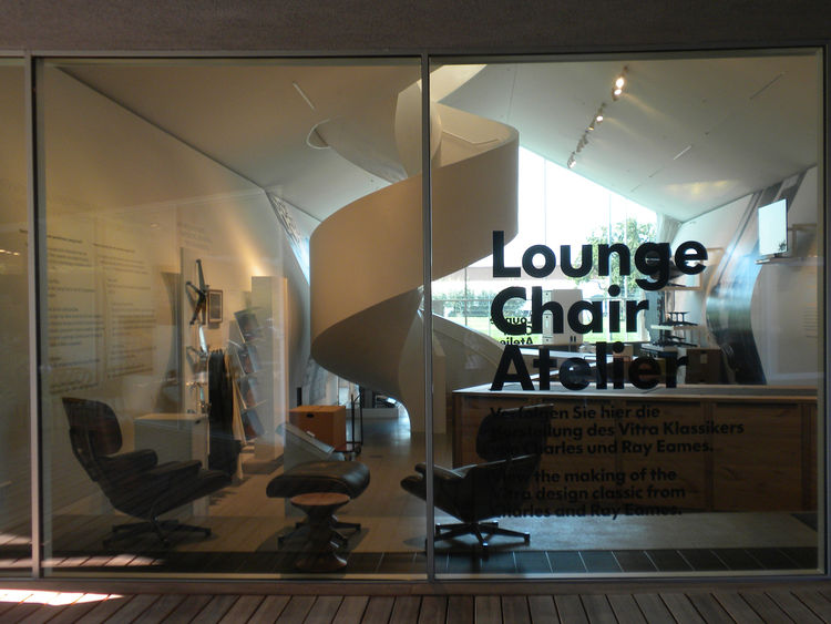 """Vitra transferred part of the manufacturing process of <a href=""""http://www.dwell.com/people/charles-and-ray-eames.html"""">Charles and Ray Eames's</a> Lounge Chair and Ottoman (designed in 1956) to the Lounge Chair Atelier in the VitraHaus upon its completio"""