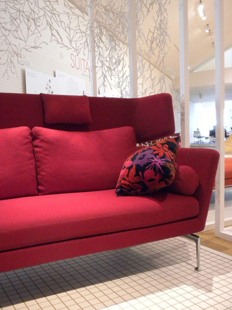 "There was a huge display featuring Antonio Citterio's <a href=""http://www.dwell.com/articles/suita-sofa-by-antonio-citterio.html"">Suita Sofa</a>, which was released in 2010 and which we nominated as a finalist in our <a href=""http://www.dwell.com/articles"