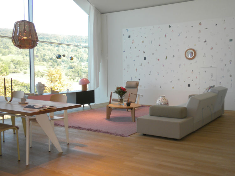"Serene settings like this one in the VitraHaus make you want to unpack and move in. This living and dining room features the Polder Sofa XL by <a href=""http://www.dwell.com/people/hella-jongerius.html"">Hella Jongerius</a>, Kast console by <a href=""http://"