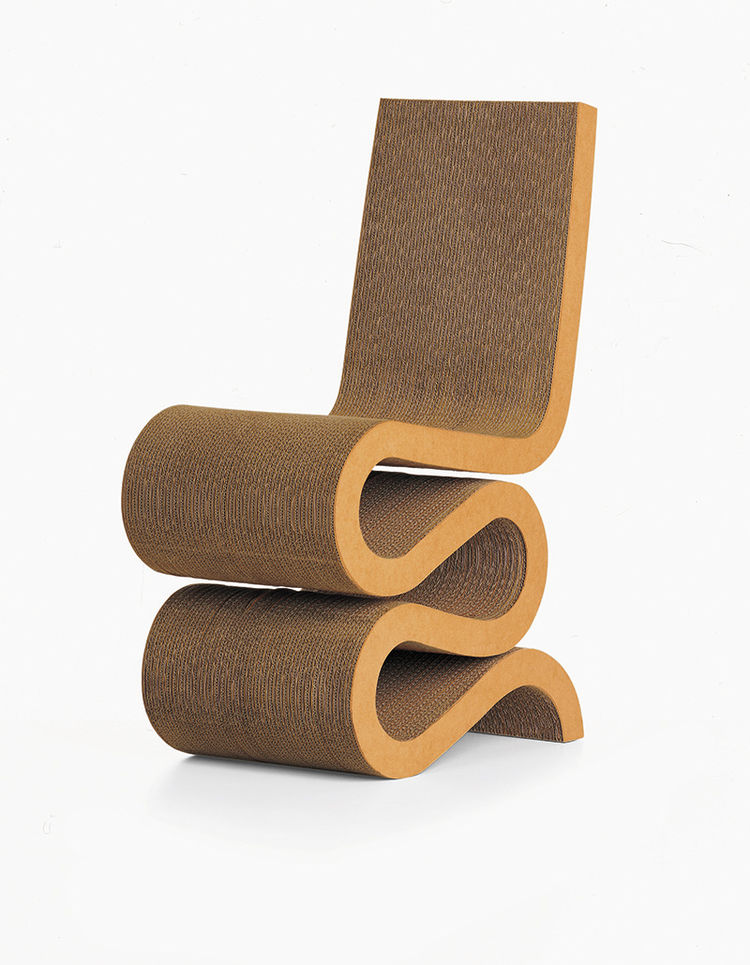 """Wiggle Chair by <a href=""""http://www.foga.com/"""">Frank Gehry</a>"""