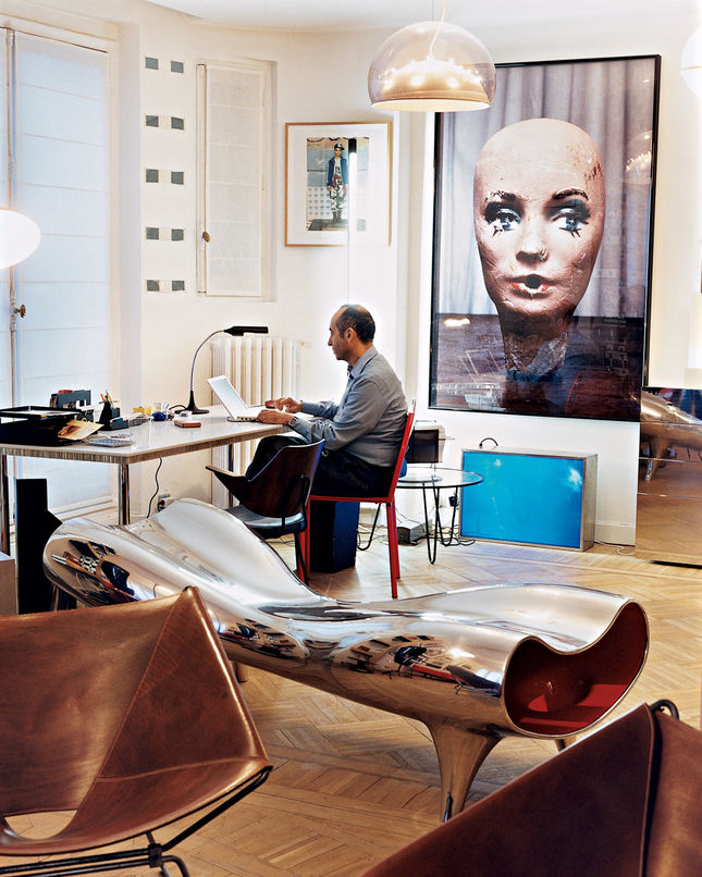 Didier confesses to sometimes keeping one piece from each edition for himself—as you can tell from his home office, which is delightfully cluttered with design gems.