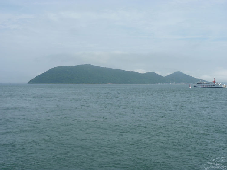 Here's a view of the island, snapped from Sticotti's ferry on approach.