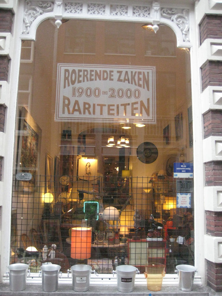 """<a href=""""http://www.roerende-zaken.nl/"""">Roerende Zaken Rariteiten</a> was one of my favorite vintage shops in town and boasted a great selection of cool finds."""