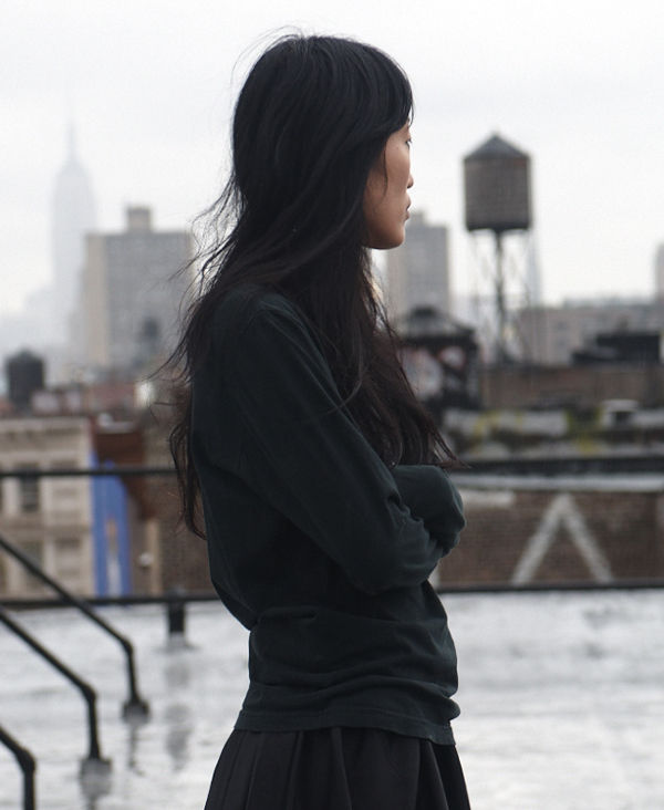 Singer/songwriter Jihae on her rooftop.