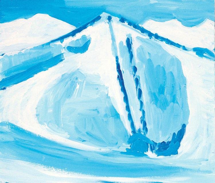 Yutaka Sone, Perfect Island - Ski lift, 1999 acrylic on canva