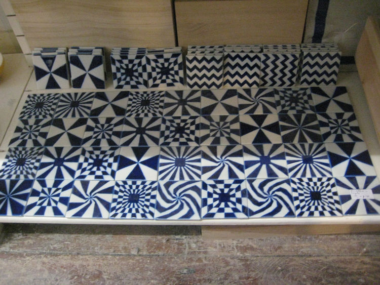 Hand-made tiles by Corien. Lovely!