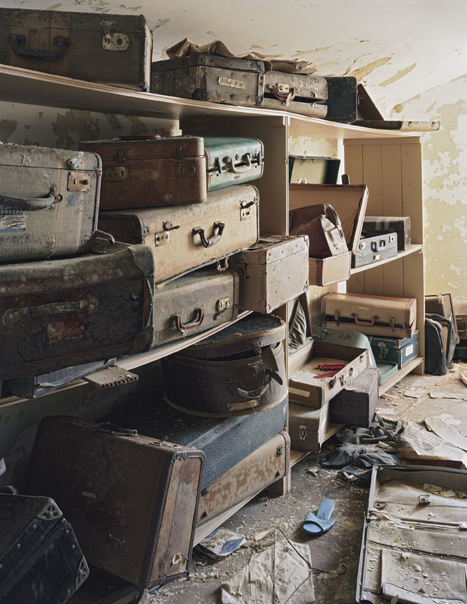 Patients stores their suitcases in the attic at Bolivar State Hospital in Bolivar, Tennessee.
