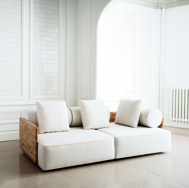 A new addition to the Autoban family, the Deco sofa also has an ottoman counterpart.