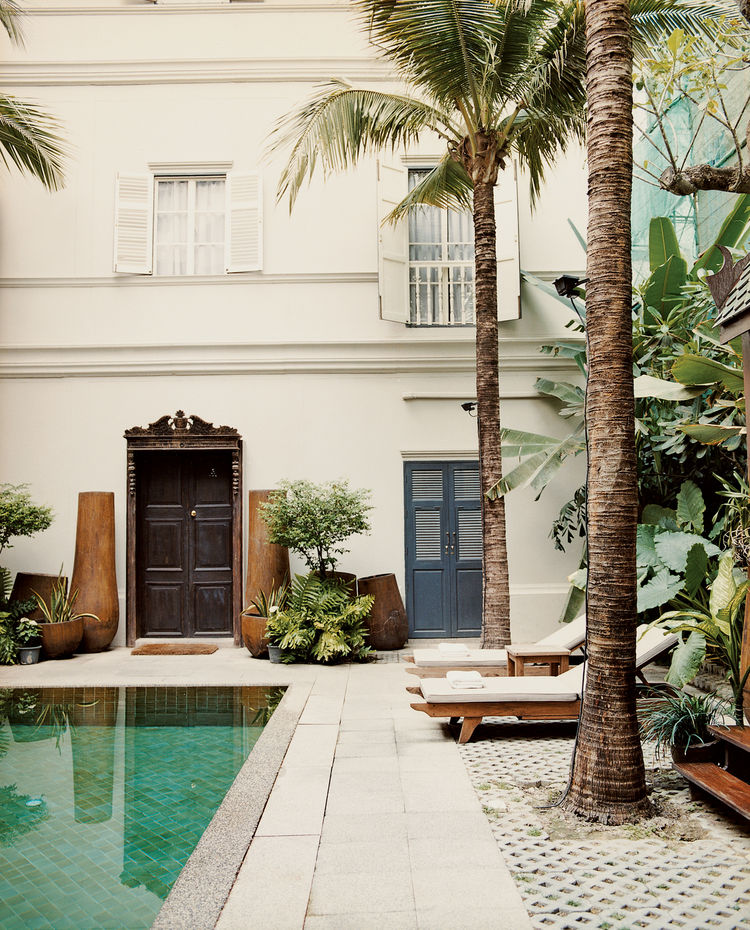 Seeking respite from the hot Bangkok weather? The pool at the Eugenia hotel offers a quiet place to relax after a day of touring the city.