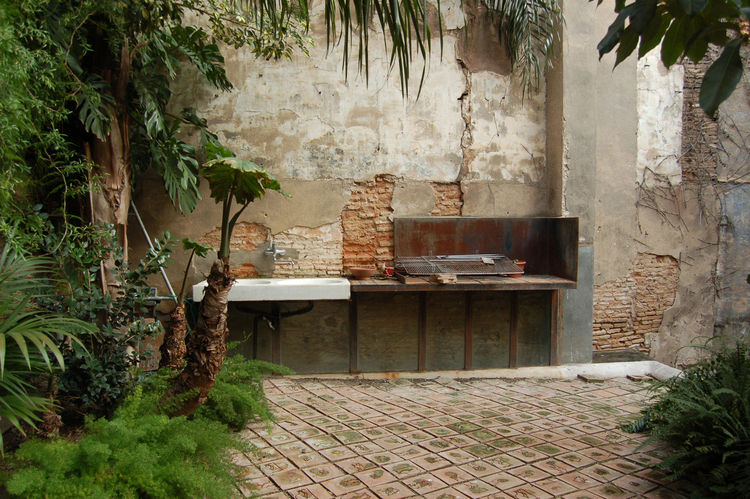"I loved the utter simplicity and rustic charm of Tagliabue's outdoor ""kitchen""."
