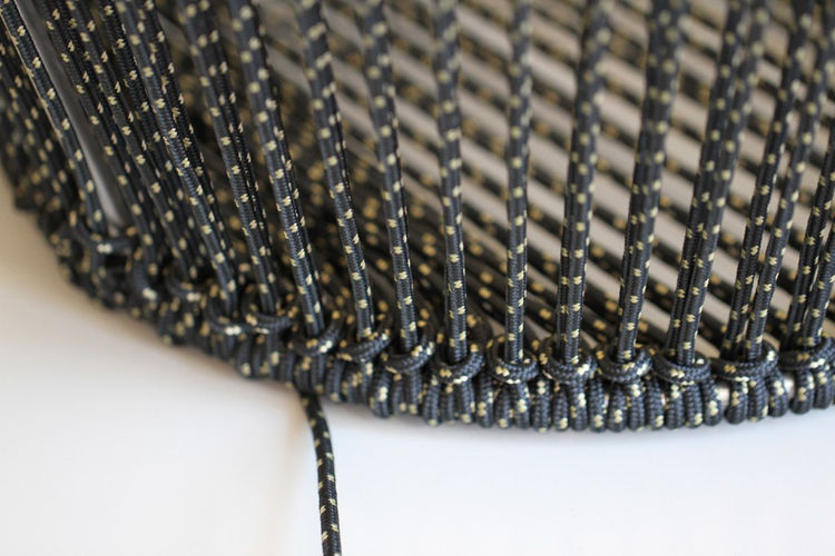 """We found a race car shop that can handle stainless steel really well. They welded up the base perfectly. Then we found a company that makes custom ropes (if the order quantity is right). There are many ways to weave the jacket of the rope and endless col"