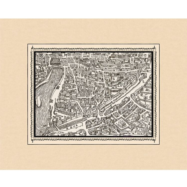 Here's an example of the kind of neighborhood detail—in this case, Paris's Latin Quarter—that Bedrock offers. Prints like this can cost as little as $50, but still capture the historic spirit of the larger design. <br /><br /><p><em><strong>Don't miss a w