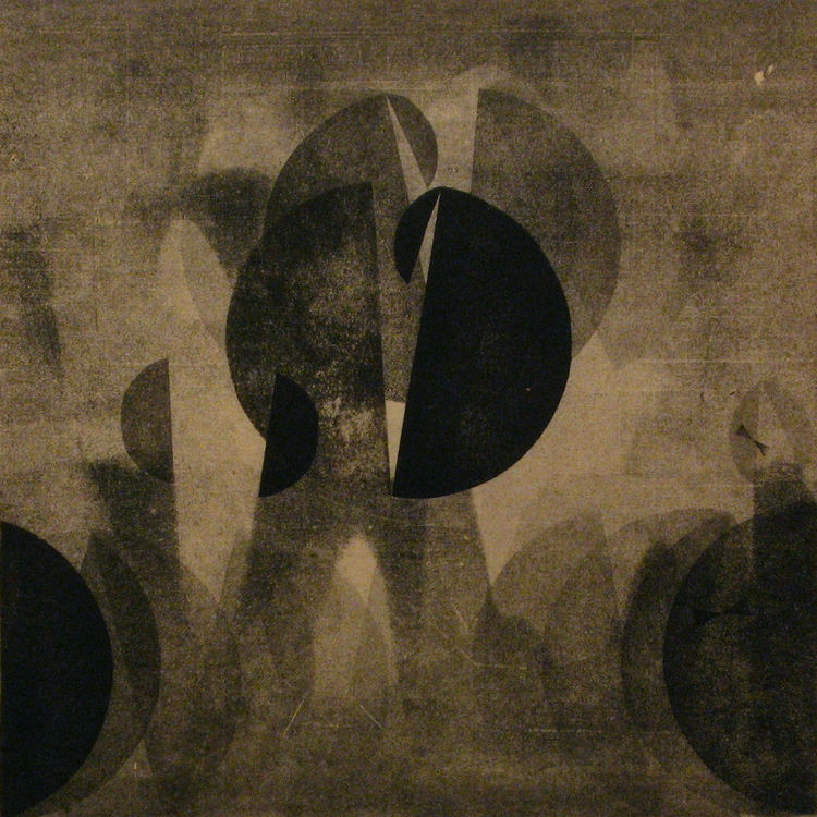 """Bertoia was always moving in and out of abstraction and that's why he was able to create such innovative design,"" says Murphy reflecting upon the designers oeuvre.<br /><br /><i>Untitled 386</i>,c. 1940's, ink on rice paper, 14"" x 14"". Image courtesy Ser"