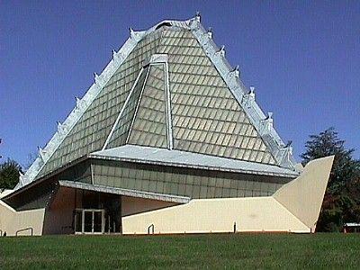 Beth Shalom Synagogue in Elkins Park, Philadelphia, built in 1954 by Frank Lloyd Wright.