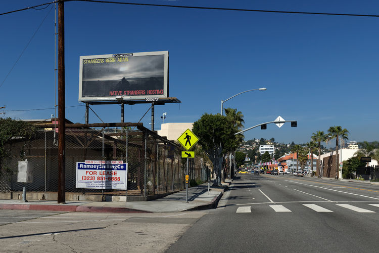 The image on Renée Green's billboard is from her 2009 film, <i>Endless Dreams and Water Between</i> . You can see it at the corner of La Brea and Lexington.