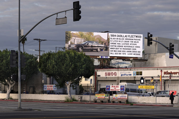 Artist Brandon Lattu used his billboard to actually make a sales pitch, albeit one in the form of a classified ad. Find it at Fairfax, south of Pico.