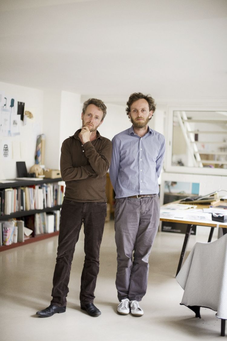 The Bouroullecs were feeling press-shy the day I visited, so the studio provided this portrait. Erwan is on the right; Ronan on the left.<br /><br />Photo: © Ronan et Erwan Bouroullec.