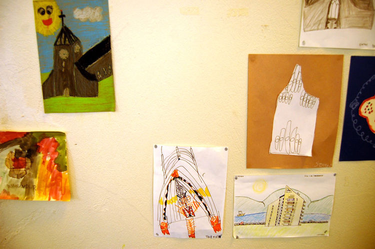 I loved this collection of children drawings of the Hallgrímskirkja, a stunning Lutheran church overlooking the city.