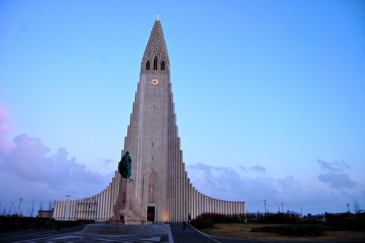 The Hallgrímskirkja is visible from all over. Views from the top reveal a rainbow of rooftops.