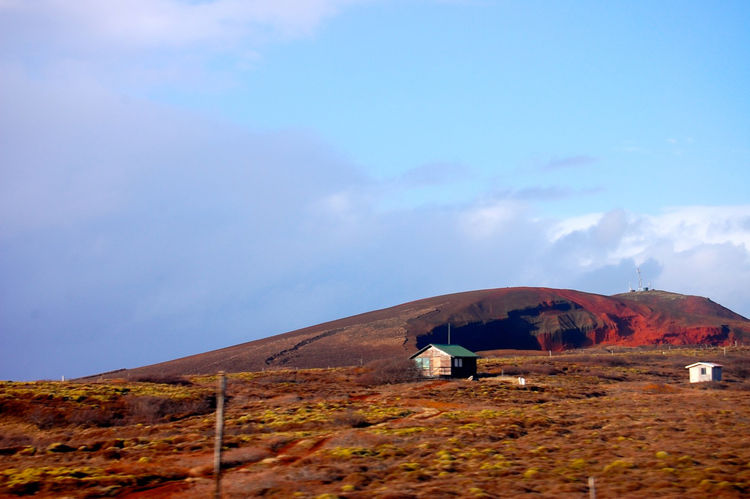 Even in nature the colors are vibrant and intense in Iceland, like this rust-red hillside.