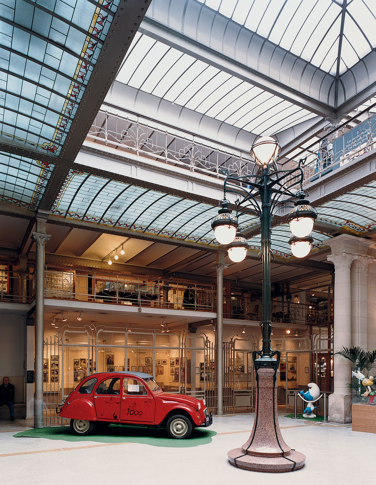 The Belgian Center for Comic Strip Art was designed by Art Nouveau master Victor Horta.